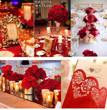 Red And Gold Wedding Party