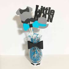 Turquoise Black Little Man Centerpiece Vase Kazen Baby