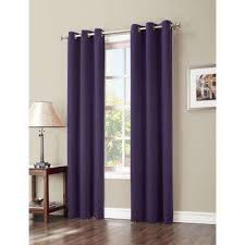 Purple Ruffle Curtain Panel by Purple Curtains U0026 Drapes Window Treatments The Home Depot
