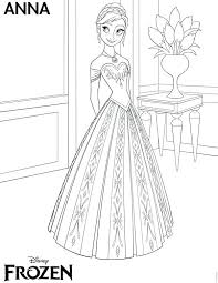 Full Image For Frozen Anna Coloring Pages To Print Free Printables Invitations Thank
