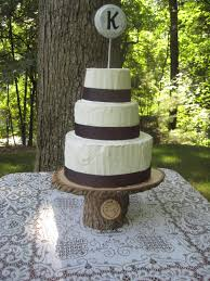 Wood Cake Stand Log Campaign Rustic Wedding