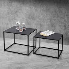 en casa beistelltisch 2er set mandal metall couchtisch im indutrial design