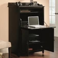 Sauder Office Port Executive Desk by Furniture Oak Wood Computer Armoire On Kahrs Flooring And White