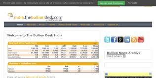 india bullion desk gold prices india the bullion desk