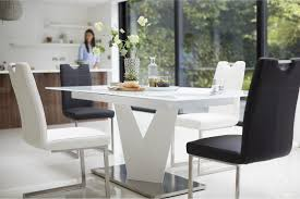 Extending Ultra-modern Dining Table From Habufa Sits Up To 8. Glass ... White Ultra Modern Ding Table Wtwo Pedestal Legs Glass Top Classic Chair Room Ideas Chair Chairs Set Of 2 Grey Faux Leather Z Shape C Base Wade Logan Cndale Midcentury Upholstered Set Classics Contemporary Brindle Finish Artsy Tables Kitchen And Chairs Bal Harbor Taupe Pier 1 Gloss Black Fabric Designer Breakpr Luxury Apartment Designs For Young Criss Cross In Espresso Room