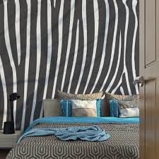 200x154 cm fototapete zebra pattern schwarz weiß