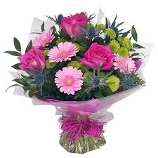 Hand Tied Bouquet Classic Pinks