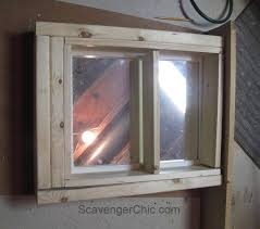 Industrial Bathroom Cabinet Mirror by Create A Medicine Cabinet From A Mirror Diy Scavenger Chic