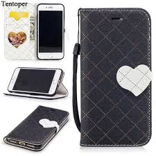PU Leather Flip Phone Case for iphone 7 7 plus Coque Girly Heart