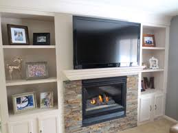 Living Room With Fireplace And Bookshelves by Remodelaholic Fireplace Makeover With Built In Shelves