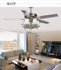 remote big wind fan lights ceiling living room modern
