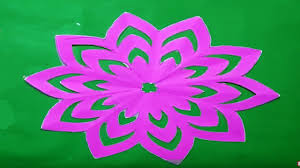 How To Make Simple Easy Paper Cutting Flower Designs DIY Instructions Step By