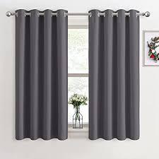 pony vorhang blickdicht gardinen grau 2er set h 137 x b 117 cm thermo vorhänge verdunkelung gardinen für schlafzimmer weihnachten deko