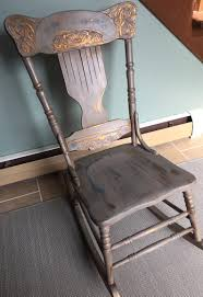 Rustic Chalk Painted Rocker With Copperhighlights. Very Pretty And Funky Paraphernalia On Twitter Vintage Rocking Chair Painted In Annie Chalk Painted Rocking Chair Yard Sale Makeover Addicted 2 Diy Adult Vintage Shabby Chic With Cream Chalk Paint Baby In Tiffany Blue Using Sloan Paint Vintage Chalk Painted Rocking Chair Crystal Lake Il Patch The Miranda Kentucky Distressing Rocker Bees A Pod