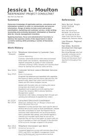 Telephone Interviewer Customer Care Liaison Resume Example