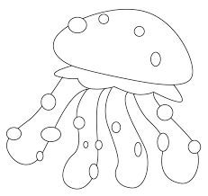 Fresh Jellyfish Coloring Page Best Pages Ideas For Children