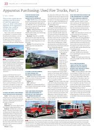 100 Fire Trucks Unlimited Apparatus Magazine August 2016 Page 20