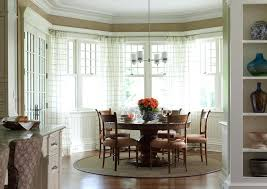 Kitchen Bay Window Treatments Other Dining Room Perfect On In For Design Ideas