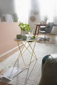 wohnling design beistelltisch marmor optik weiß rund ø55 cm gold metallgestell kleiner wohnzimmertisch couchtisch