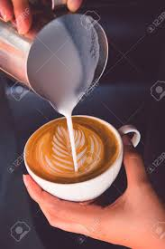 How To Make Coffee Latte Art Stock Photo