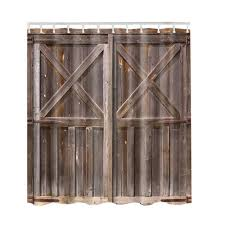 Rustic Shower Curtain By Old Wooden Barn Door Of Farmhouse Oak Countryside Village Board Rural Life