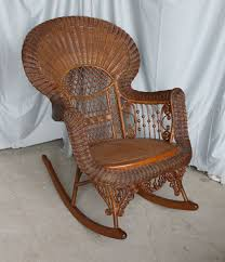 Heywood Wakefield Victorian Wicker Rocking Chair