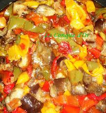 cuisiner les poivrons sauté d aubergines et de poivrons la conque d or