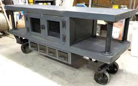 Steampunk Industrial Kitchen Island Cart