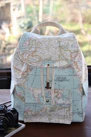 Bag Leather Backpack Map Print Buckles World Globe Cute Perfect Stylish Back