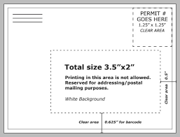 The Address Block On Your Postcard Should Be White And Is As Per USPS Guidelines Shown Below