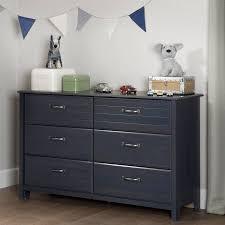 Walmart South Shore Dressers by South Shore Ulysses 6 Drawer Double Dresser Blueberry Walmart Com
