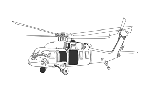 Helicopter Coloring Page Printable