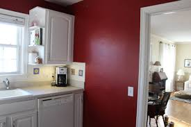 Rustic Red Kitchen Cabinets Decor Themes And Grey Black