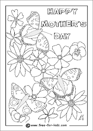 Colouring Page Of Flowers And Butterflies
