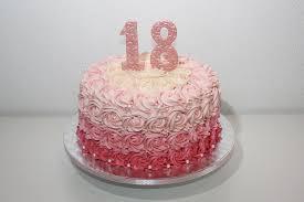 18 geburtstag rosette torte lealu