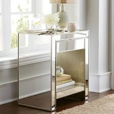 Hayworth Mirrored Dresser Silver by Bedroom Stylish Bedroom Storage Design With Mirrored Nightstands