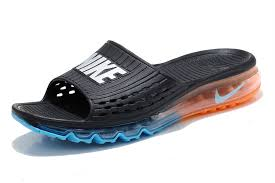Original Designed Men Nike Air Max Sandals Shoes Slipper Beach Wading 4MMGcU J Black Orange