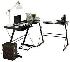 Black Corner Computer Desk With Hutch by Corner Computer Desk Contemporary Desks And Hutches By