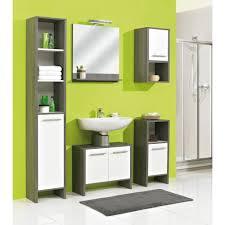 badezimmer midischrank in weiß glanz und graphit struktur oliver 33 x 137 cm badschrank