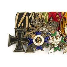 Military Awards And Decorations Records by Original German Wwi Wwii High Ranking Officer Medal Bar 13
