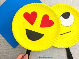 Emoji Paper Plate Craft