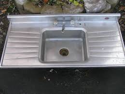 wonderful single bowl stainless steel kitchen sink with drainboard