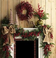 Country Christmas Mantel Decor