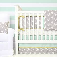 Coral And Mint Crib Bedding by Woodlands Deer Baby Bedding Mint Crib Set Woodland Baby