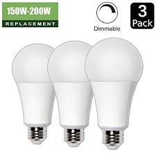 22w 150w 200w equivalent a21 dimmable led light bulb 2680