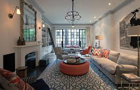 eclectic living room designs living room eclectic with orange