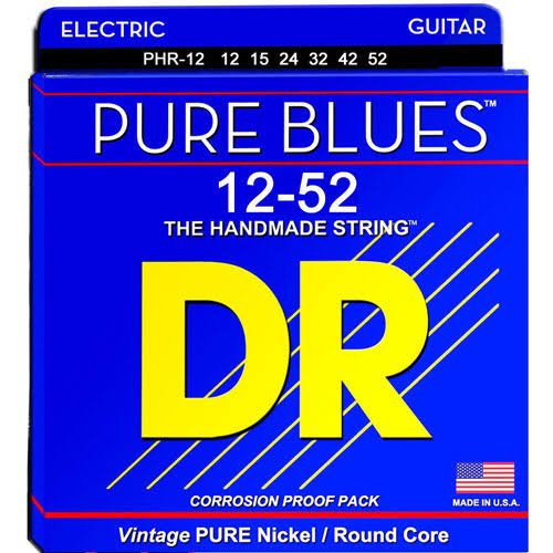 DR Strings PHR12 Pure Blues Nickel Extra Heavy Electric Guitar Strings - 12 to 53 Gauge