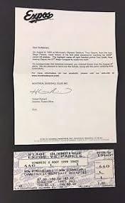 Tony Gwynn 3000th Hit Unused Baseball Game Ticket Montreal COA
