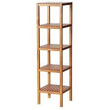 ikea wooden shelf molger 5 shelf cabinet floors stained beech 140 x 37 x 37 cm brown and moisture proof suitable
