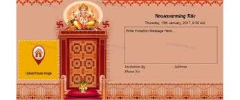 Invitation With Image Housewarming Ganesh